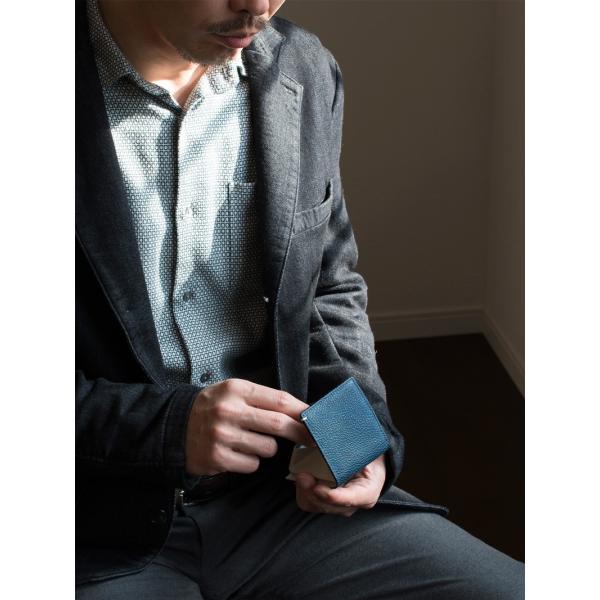 コインケース 小銭入れ 革 メンズ レザー 本革 日本製 黒桟革 TAVARAT Tps-085  ラッピング無料|tavarat|02