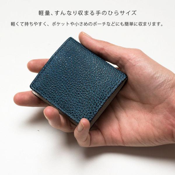 コインケース 小銭入れ 革 メンズ レザー 本革 日本製 黒桟革 TAVARAT Tps-085  ラッピング無料|tavarat|05