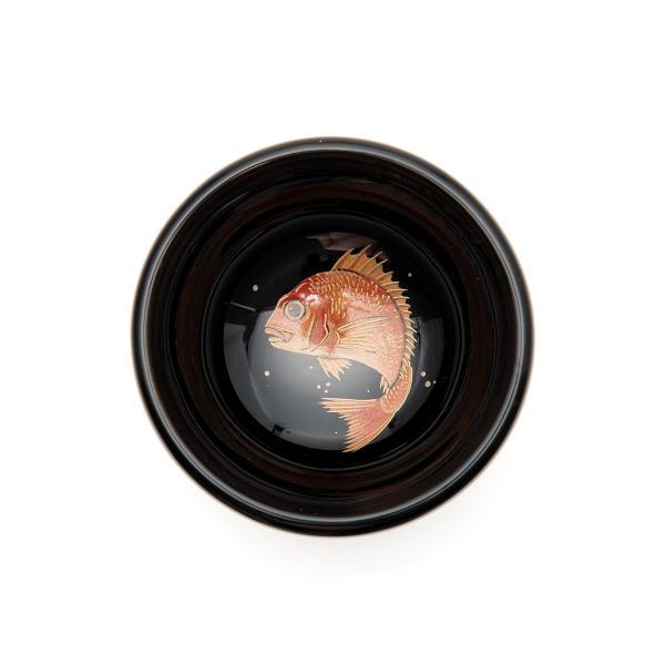 輪島塗 ぐい呑 魚の図  還暦祝い 定年祝い プレゼント 名入れ |tayasikkitenn|02