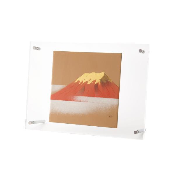輪島塗 アクリルパネル 赤富士