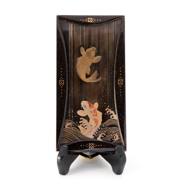 輪島塗 コンパクト飾立  登鯉|tayasikkitenn