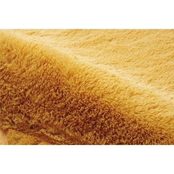 ふわふわ ラグマット 〔2畳 約185×185cm オレンジ〕 無地 フィラメント糸 ホットカーペット・床暖房対応 『フィリップ』 tayasu 04