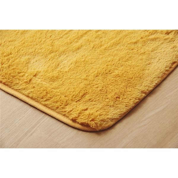 ふわふわ ラグマット 〔2畳 約185×185cm オレンジ〕 無地 フィラメント糸 ホットカーペット・床暖房対応 『フィリップ』 tayasu 05