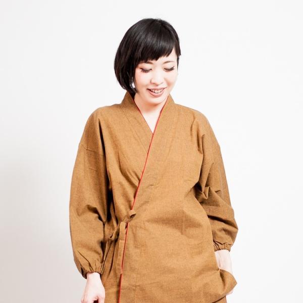 作務衣 女性 おしゃれ レディース 通年 綿 先染め 久留米企画 ギフト tayu-tafu 03