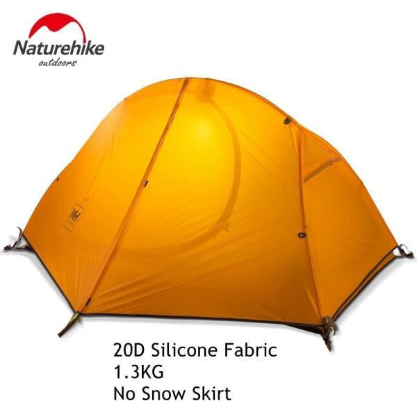 テント Naturehike サイクリングバックパック超軽量 20D/210 T 1 人 NH18A095-D Orange 20D Fabric|tbirds