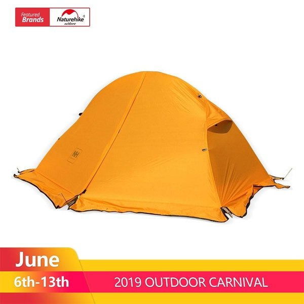 テント Naturehike サイクリングバックパック超軽量 20D/210 T 1 人 NH18A095-D Orange 20D Fabric|tbirds|02