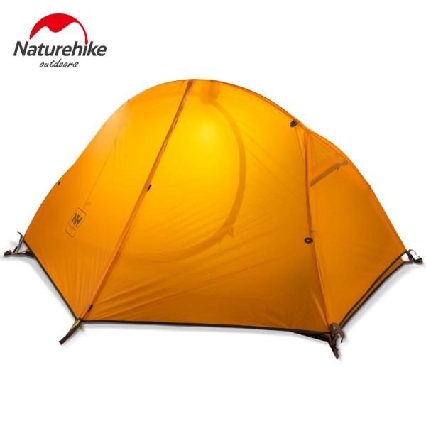 テント Naturehike サイクリングバックパック超軽量 20D/210 T 1 人 NH18A095-D Orange 20D Fabric|tbirds|03
