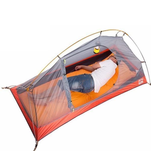 テント Naturehike サイクリングバックパック超軽量 20D/210 T 1 人 NH18A095-D Orange 20D Fabric|tbirds|06