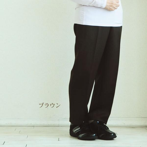 高齢者 ズボン 女性 裏起毛 お尻まわりゆったり 深履きパンツ (シニア 服 70代 80代物 婦人 おばあちゃん服 高齢者 ズボン)|tc-mart|02