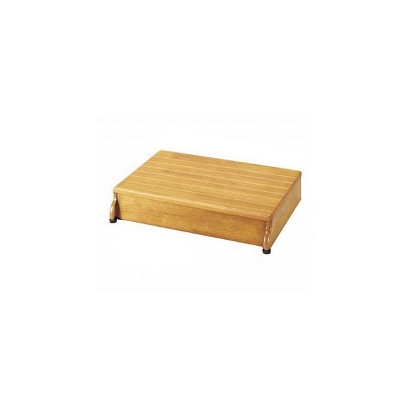 安寿木製玄関台1段タイプ(60W-30)( 介護   踏み台 ふみ台 玄関 立ち上がり ) 高齢者 老人 お年寄り 便利グッズ