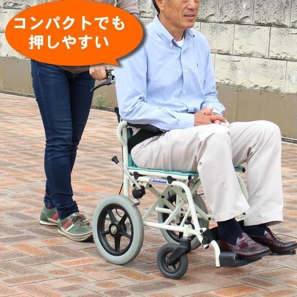 車椅子 軽量 折りたたみ コンパクト (車いす、車イス) 携帯用 旅ぐるまKA6カワムラサイクル|tc-mart|04