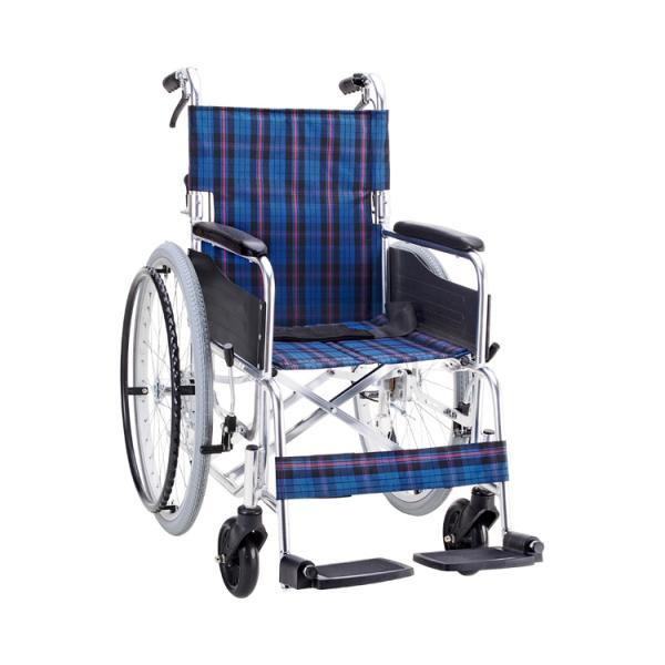 車椅子 (車いす、車イス)折りたたみアルミ折りたたみ自走式 セレクト50 背折・介助ブレーキ付 KS50(マキライフテック) tc-mart