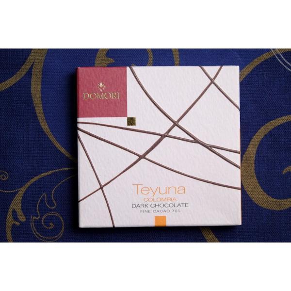 六本木ティープリーズ:ドモーリ:テユーナ(70%カカオ・コロンビア産)25g・カカオ品種別チョコレート|tea-please1