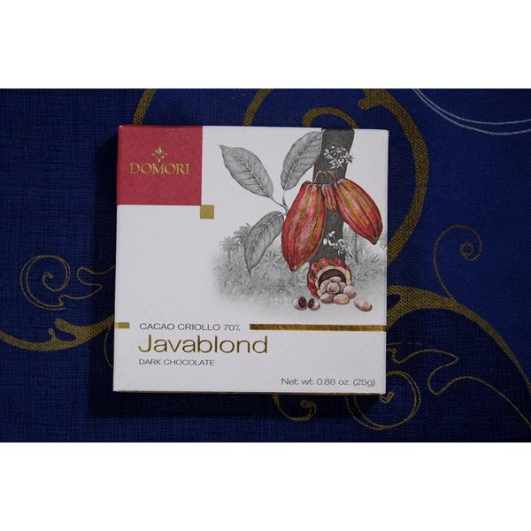 六本木ティープリーズ・ドモーリ:ジャバブロンド(インドネシア産クリオーロ種・70%カカオ)25g・カカオ品種別チョコレート|tea-please1