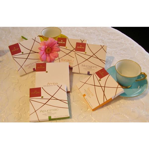 六本木ティープリーズ・ドモーリ:カカオ70%・ナポリタン・品種別、産地別チョコレート(4.7g×6)|tea-please1|02