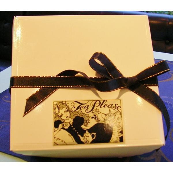 六本木ティープリーズ・宇野亜喜良デザインのアリスとチェシャ猫のパッケージ(当店オリジナル)|tea-please1