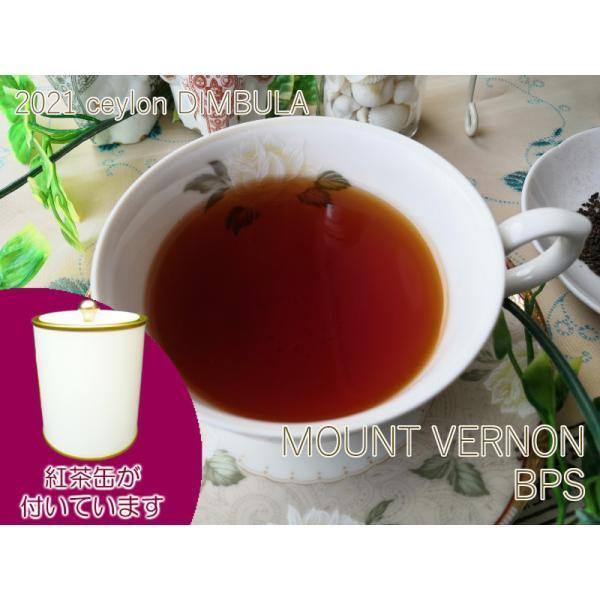 紅茶 茶葉 茶缶付 ディンブラ マウントバーノン茶園 BPS/2021 50g 茶葉 リーフ 送料無料
