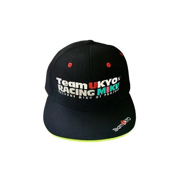 キャップ レーシングミク 2018 TeamUKYO応援Ver. 初音ミク MIKU かんざきひろ 平ツバ メール便不可|teamukyo