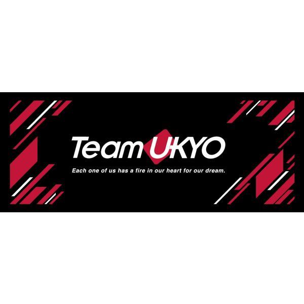 フェイスタオル チーム右京 TeamUKYO 2018 応援グッズ 黒 赤 メール便OK(2個まで)|teamukyo