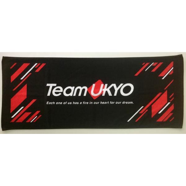 フェイスタオル チーム右京 TeamUKYO 2018 応援グッズ 黒 赤 メール便OK(2個まで)|teamukyo|02