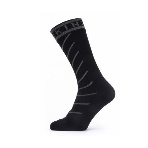 SEALSKINZ Waterproof Warm Weather Mid Length Sock with Hydrostop Black/Grey size-L 11100057010130 全国送料無料 │ シールスキンズ ソックス 靴下 Lサイズ|tech21