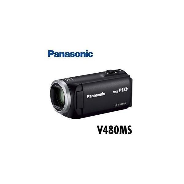 パナソニック デジタルハイビジョンビデオカメラ 32GBメモリー内蔵 HC-V480MS-K ブラック【15倍ポイント】