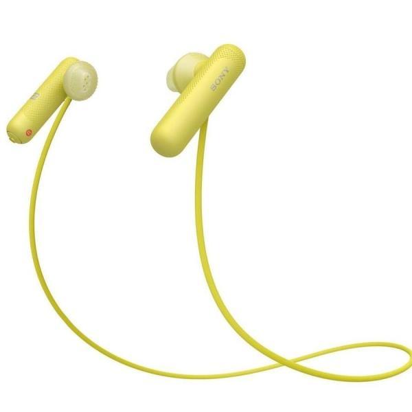 【5セット】 ソニー Bluetooth対応ダイナミックオープン型カナルイヤホン(イエロー) SONY SPシリーズ WI-SP…【15倍ポイント】
