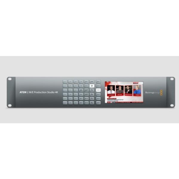 【Blackmagic Design】ATEM 2 M/E Production Studio 4K Ultra HDライブプロダクションスイッチャー《1年限定メーカー保証》 ブラックマジックデザイン