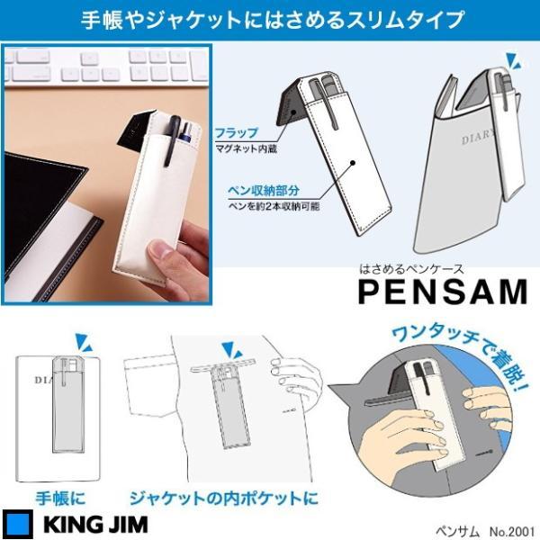 ペンサム 手帳にはさめるペンケース スリム2本用|techouichiba|02