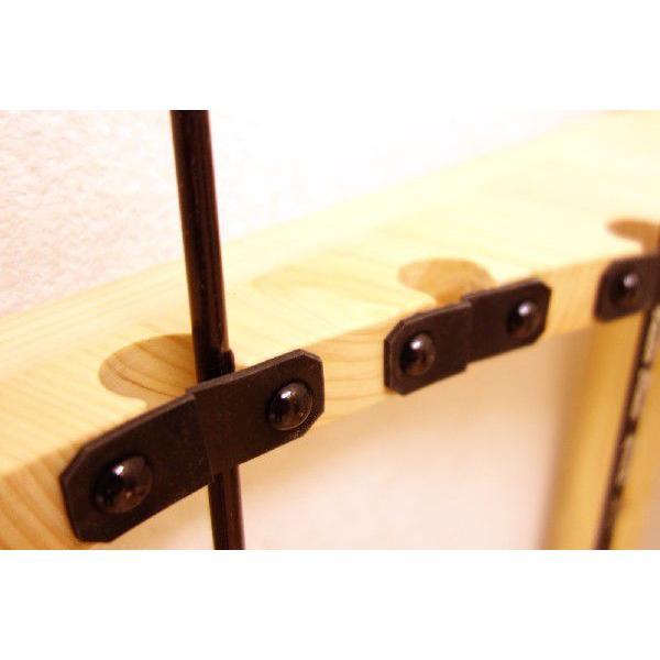 【標準・1ピース用】RS-3 9本用 ヒノキ無垢材 【家具職人の作ったロッドスタンド】|tedukurikaguueda|02