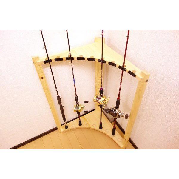 【標準・1ピース用】RS-3 9本用 ヒノキ無垢材 【家具職人の作ったロッドスタンド】|tedukurikaguueda|04