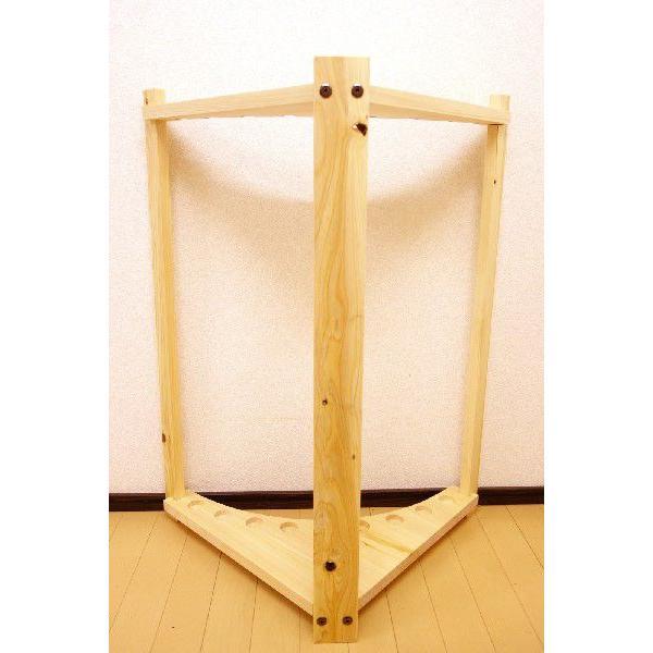 【標準・1ピース用】RS-3 9本用 ヒノキ無垢材 【家具職人の作ったロッドスタンド】|tedukurikaguueda|05