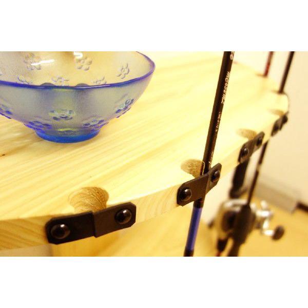 【標準・1ピース用】 RS-1 9本用 ヒノキ無垢材 【家具職人の作ったロッドスタンド】|tedukurikaguueda|02
