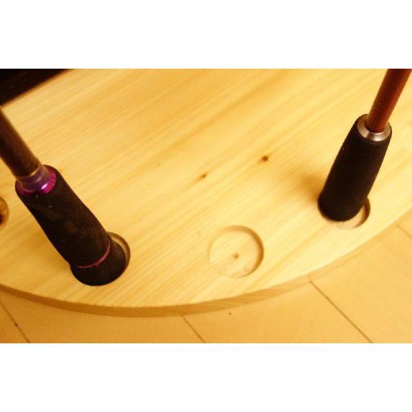 【標準・1ピース用】 RS-1 9本用 ヒノキ無垢材 【家具職人の作ったロッドスタンド】|tedukurikaguueda|03