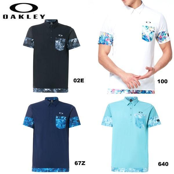 オークリー FOA400802 Skull Plant Bloom Shirts スカルプラントボーン 半袖ポロシャツ ゴルフシャツ