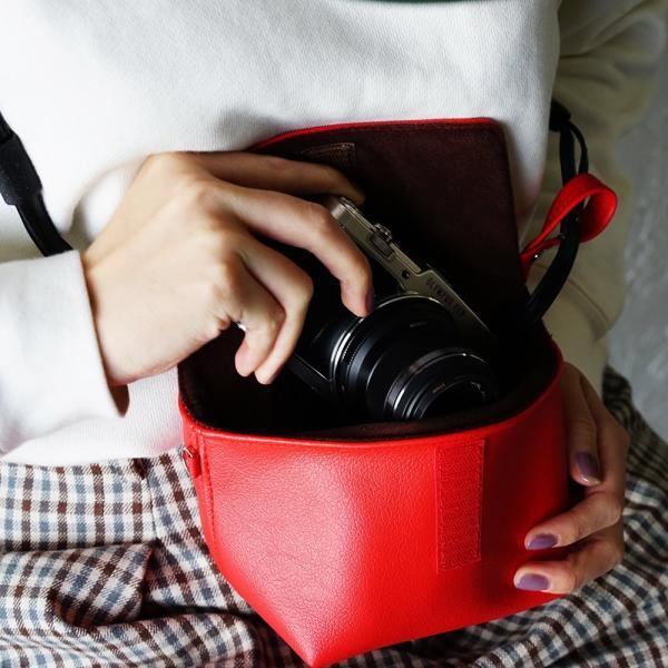 カメラポーチ カメラケース カメラバッグ「sacoa」ミラーレス 一眼レフ かわいい 女子 オリンパス|tees-factory|11