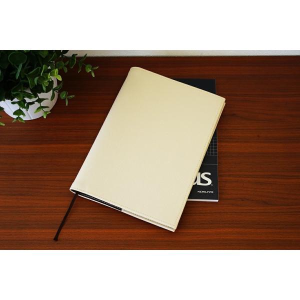 ノートカバー 手帳カバー「kanon」【送料無料】【名入れ可 A5 B5 名入れ可 手帳カバー 革 おしゃれ かわいい シンプル 2冊 リング】|tees-factory|04