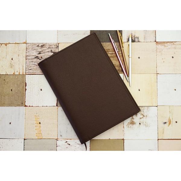 ノートカバー 手帳カバー「kanon」【送料無料】【名入れ可 A5 B5 名入れ可 手帳カバー 革 おしゃれ かわいい シンプル 2冊 リング】|tees-factory|06