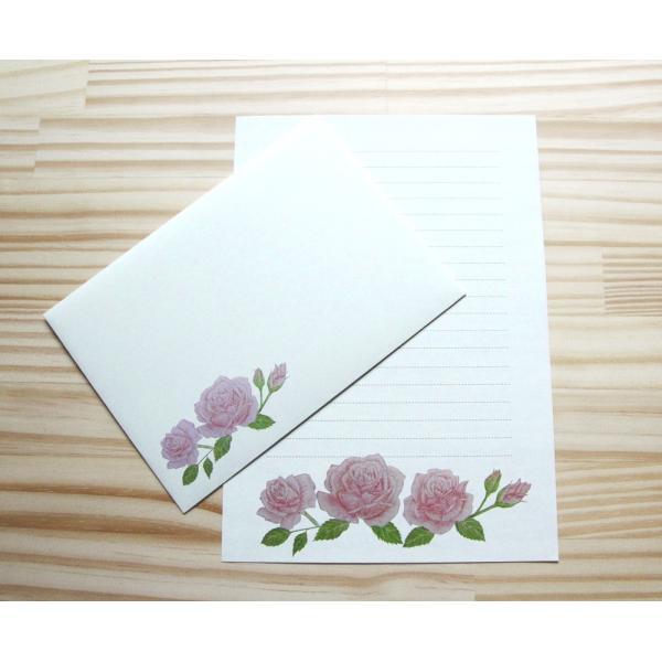 お試しレターセット(りんご バラ いちご チューリップ クローバー) tegamiya-nukumori 03