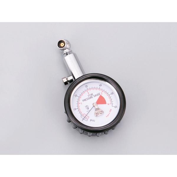 4909449300206  DAYTONA  デイトナ   デイトナ 小型タイヤエアゲージ 首振りタイプ 64045   ツーリング時にも収納しやすい小型エアゲージ