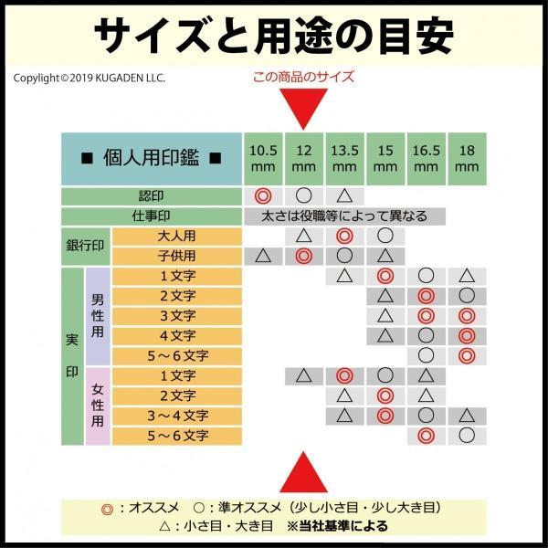 個人印鑑 チタン・光沢ゴールド12mm(少し大きめの認印など)|tekakiya|03