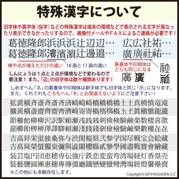 個人印鑑 チタン・ブラスト ブラック15mm(女性用の実印など)|tekakiya|05