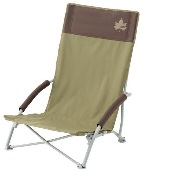 LOGOS Life ハイバックあぐらチェア プラス ブラウン ローチェア ローポジションチェア いす 椅子 アウトドア用チェア キャンプ LOGOS (ロゴス) 73173084★