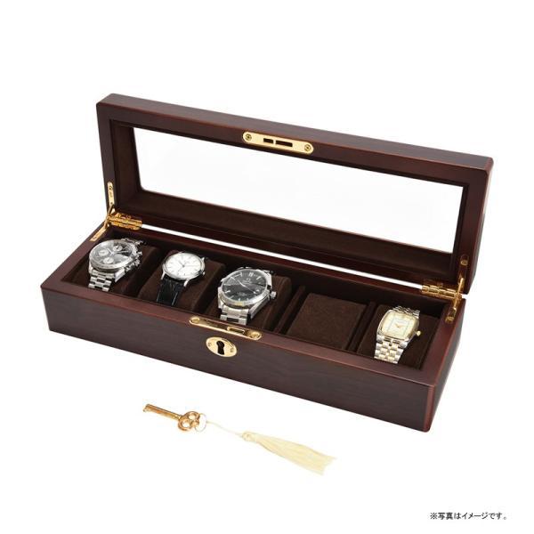 Wooden Case 木製ウォッチケース 5本用 茶谷産業 856-120