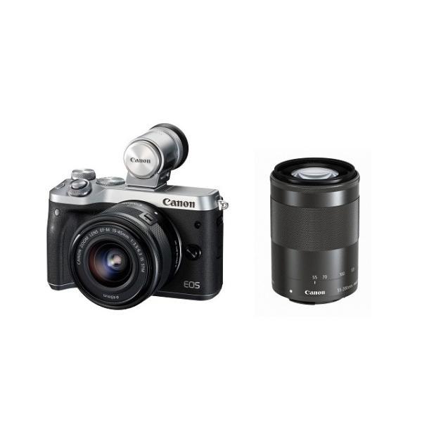 キヤノン ミラーレスカメラ EOS M6 (シルバー)・ダブルズームEVFキット 1725C052 Canon (キヤノン) EOSM6SL-WZEVFK