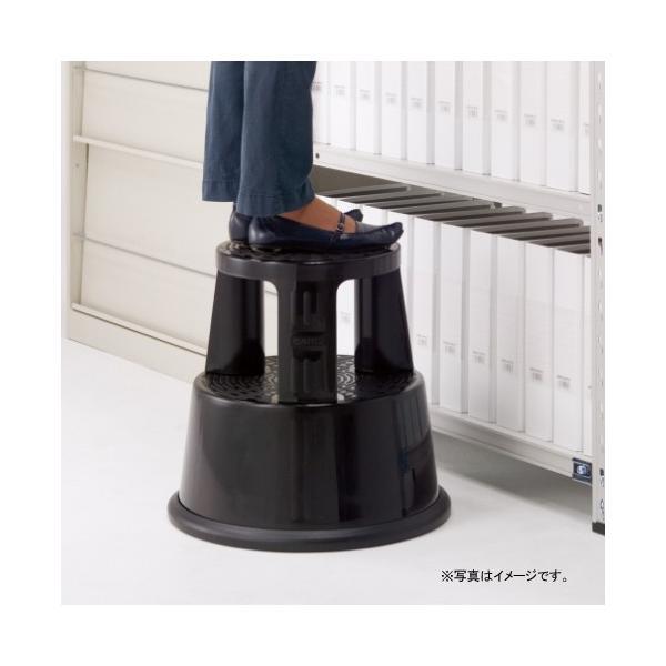 [200円割引クーポンあり]CARL (カール事務器) GS-1-K 滑り止めゴム装備キャスター付き踏み台 ブラック|telaffy|02