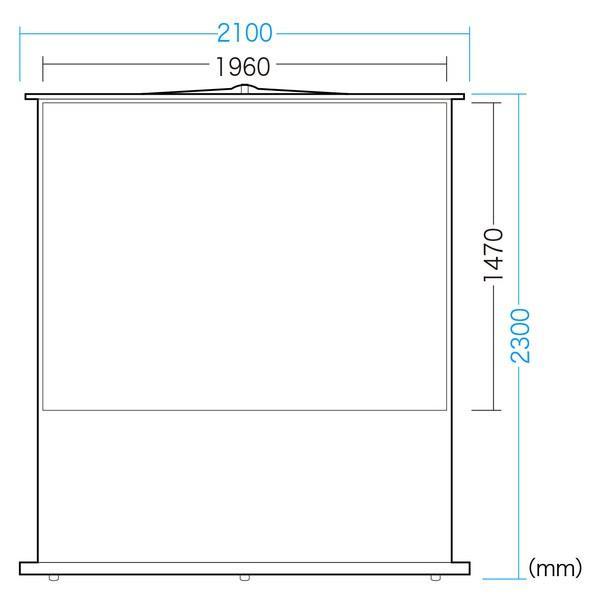 プロジェクタースクリーン(床置き式・100型相当) SANWA SUPPLY (サンワサプライ) PRS-Y100K