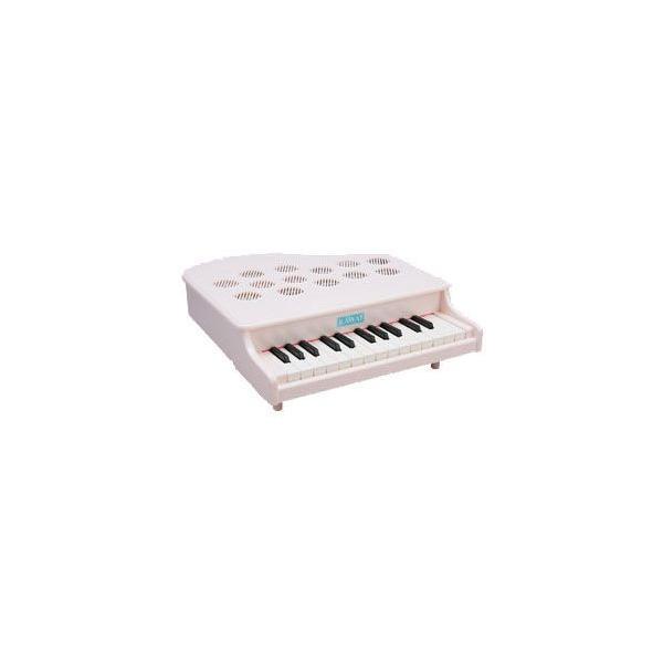河合楽器製作所 1108(1108-9) ミニピアノP-25(ピンキッシュホワイト) (おとをだしてあそぶ) 木の玩具|telj