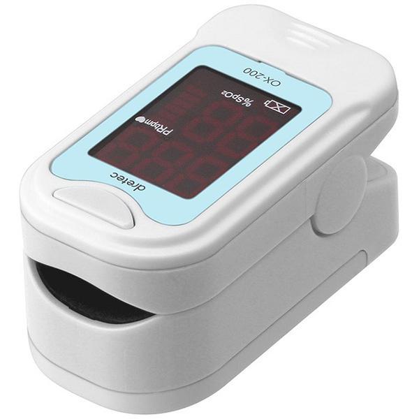 パルスオキシメーター ドリテック dretec 酸素濃度計 ブルー OX-200-BL ピンク OX-200-PK