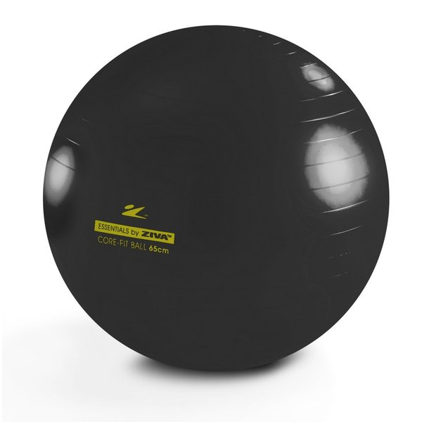 『即納』 HOME GYM ZIVA (ホームジム ジーヴァ) アンチバースト コアフィットボール 65cm ブラック ZES-CFCB-0065 ジョンソン ホライズンフィットネス|telj